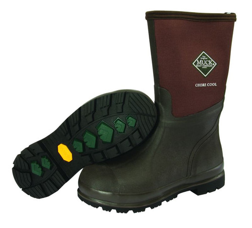 Muck Boots Chore Mid Cool Waterproof Boots With Coolmax Lining
