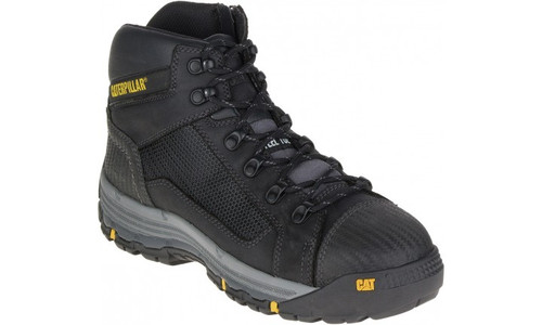 Cat Boots Convex ST Steel Toe Zip Sided Mid Height Safety Boots Black (P720055)