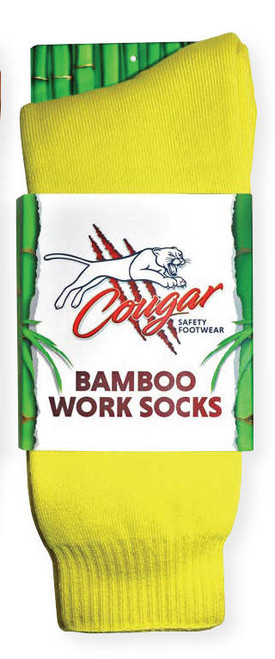 Cougar Mens Bamboo Socks 5 Pack Yellow
