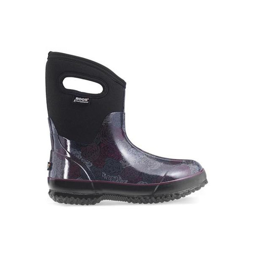 BOGS Classic Rosey Mid Handles Womens Insulated Gumboots