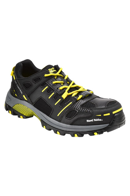 Hard Yakka Avalanche Composite Toe Cap Safety Shoes Black Yellow (Y60110)