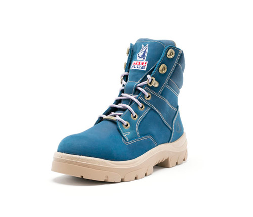 Steel Blue Southern Cross Ladies Boots in Blue with Steel Cap (512761)