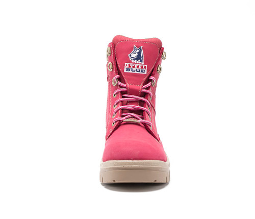 1f7a5d33fc5 Steel Blue Southern Cross Zip Ladies Boots in Pink with Steel Cap ...