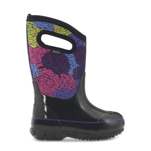 BOGS Kid's Classic Rosey Insulated Waterproof Gumboots with Pull Handles (971993-011)