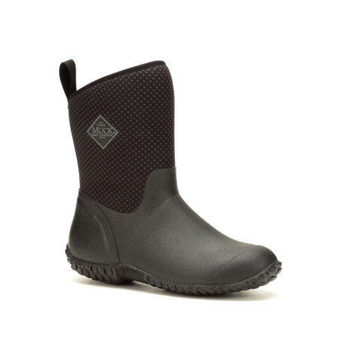 Muck Boots Muckster II Womens Mid Height Insulated Waterproof Boots in Black Roses (WM2-1ROS)
