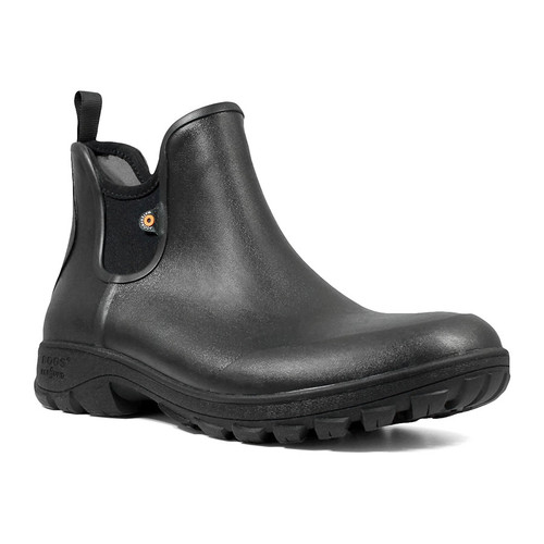 BOGS Sauvie Slip On Mens Insulated Waterproof Boots in Black