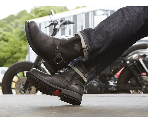 752c2625f87 Harley Davidson Scout Zip Sided Full Grain Leather Boots in Black ...