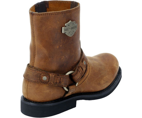 95739ad6eef Harley Davidson Scout Zip Sided Full Grain Leather Boots in Brown