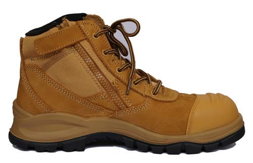 Otway Eureka Steel Cap Zip sided Work Boots (OM0100)