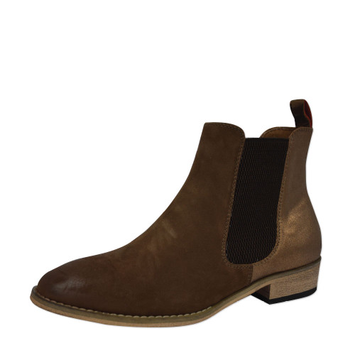 Thomas Cook Women's Chelsea Two Tone Leather Boots in Brown and Bronze (T8W28333 Bronze)