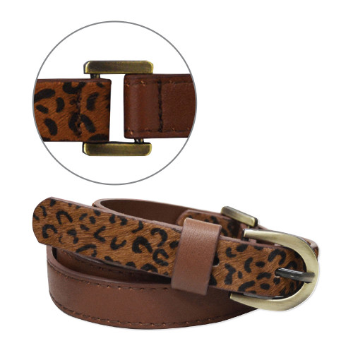 Thomas Cook Women's Chelsea Two Tone Belt in Tan and Leopard (T8W2912BEL LPRD)