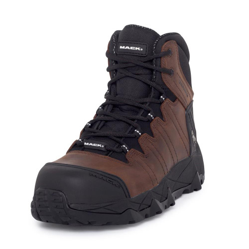 Mack Boots Octane Composite Toe Lace Up Work Boots Rocky Brown (Octane Brwn)