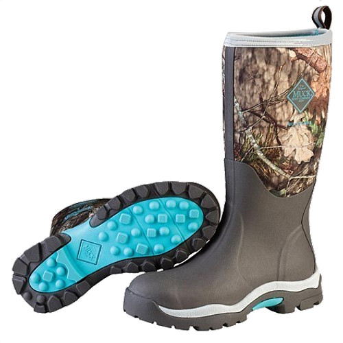 Muck Boots Women's Woody Insulated Waterproof Hunting Boots in Black and Green (SWWPK-MOBU)