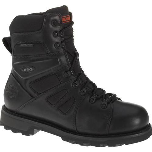 Harley Davidson FXRG-3 Full Grain Zip Sided Waterproof Leather Boots in Black (D98304 Black)