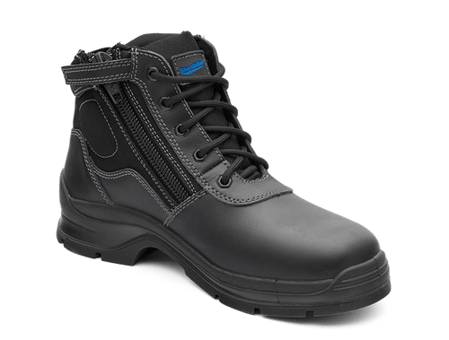 Blundstone 419 Non Safety Lace Up Zip Sided Work Boots in Black