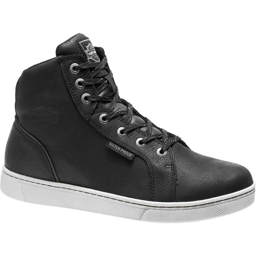Harley Davidson Midlands Waterproof Riding Sneaker in Black and White (D96165 BLK/WHT)
