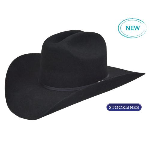8b2047572bb Pure Western Tornado Wool Felt Hat in Black - Koolstuff Australia
