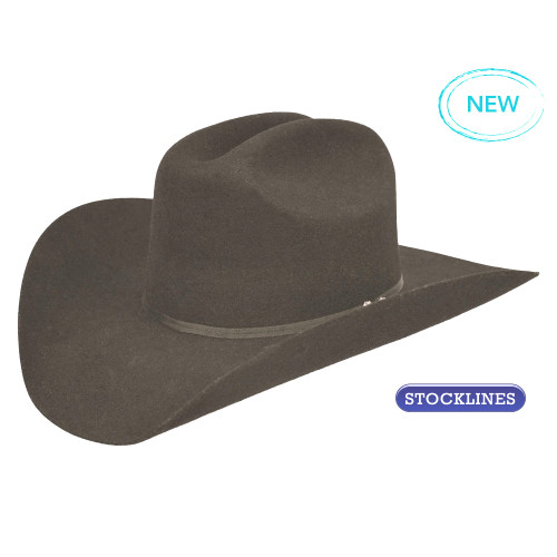 2b51064299d Pure Western Tornado Wool Felt Hat in Black - Koolstuff Australia
