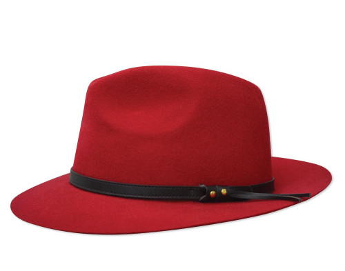 ea4c9a96100 Thomas Cook Jagger Hat Made From Pure Wool Felt in Red (TCP1916002 Red)