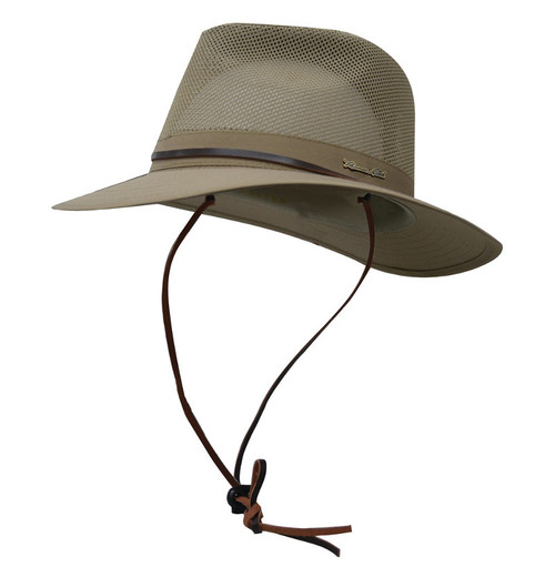 Thomas Cook Kakadu Hat with Airmesh Ventilation and Hat Strap in Khaki (TCP1931HAT)
