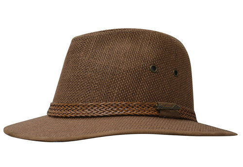 Thomas Cook Broome Linen Hat in Brown (TCP1932HAT)