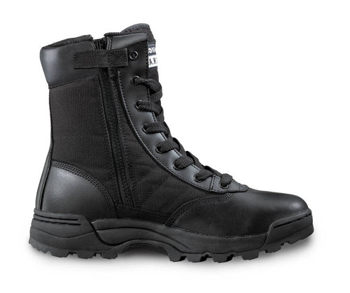 "Original Swat 1294 Classic 9"" Zip Sided Tactical Boots with Toe Cap in Black"