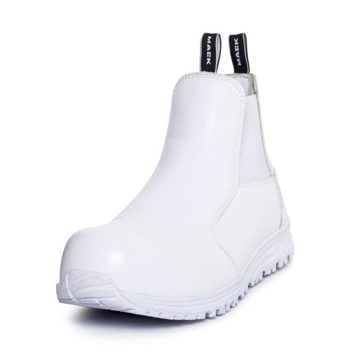 10d88d250a1 Mack Tuned Lightweight Composite Toe Safety Work Boots In White ...