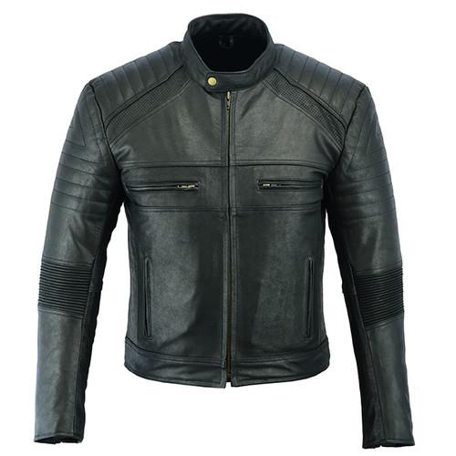 Johnny Reb Botany Vintage Leather Jacket Black (JRJ10015)