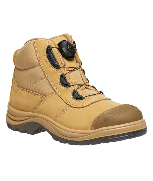KingGee Tradie Boa Lace System Steel Toe Safety Work Boots in Wheat (K27170)