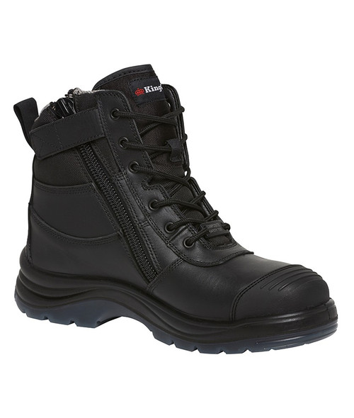 KingGee Tradie 6Z Electrical Hazard Composite Safety Toe Work Boots in Black (K27155)