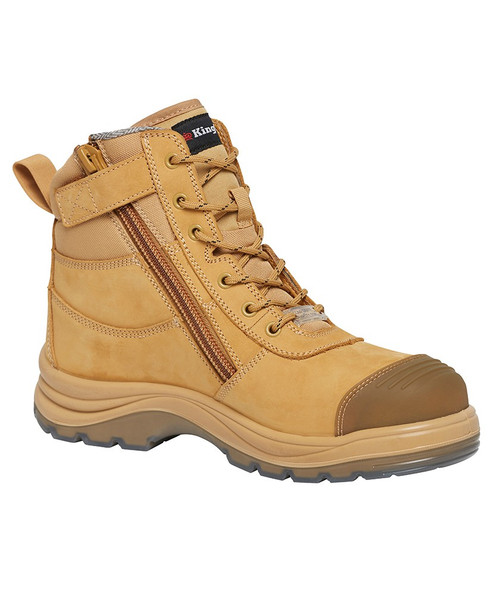 KingGee Tradie 6Z Electrical Hazard Composite Safety Toe Work Boots in Wheat (K27105)