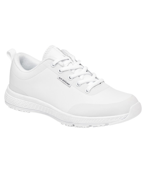 KingGee Superlite Lace Up Womens Safety Work Shoes in White Full Grain Leather (K22310)