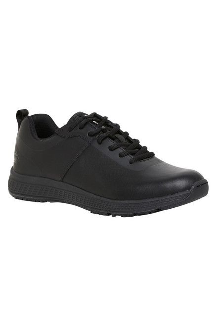 KingGee Superlite Mens Soft Toe Lace Up Slip Resistant Leather Work Shoes (K22245)