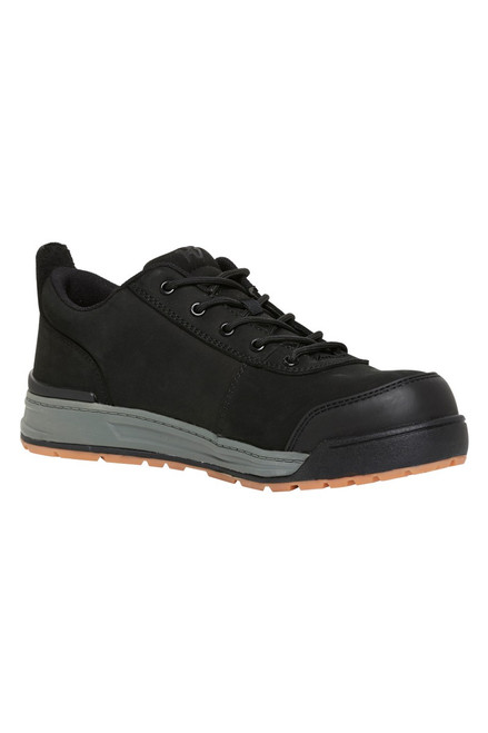 Hard Yakka 3056 Lo, Lace Up, Wide Composite Toe Cap, Safety Work Shoes in Black Leather (Y60114)
