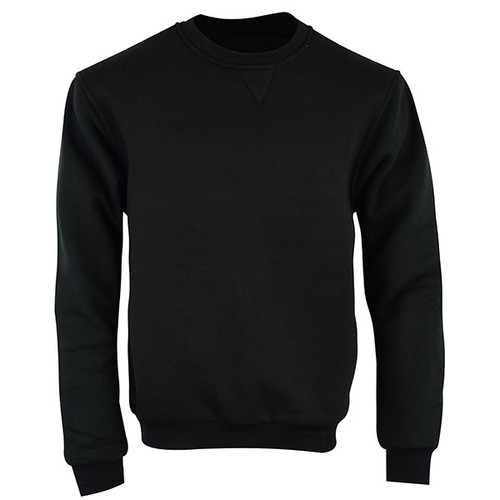 Johnny Reb Hume Protective Fleece Crew Neck with KEVLAR® in Black Cotton (JRK10005)