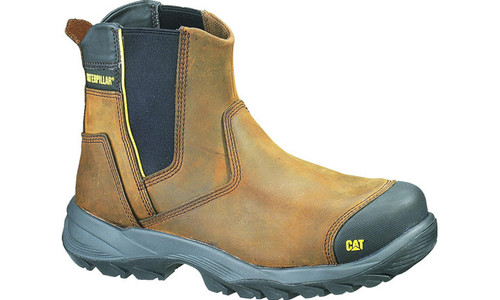 Cat Boots Propane ST Pull On Steel Cap Safety Boots in Dark Brown (P712620)