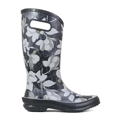 BOGS Rainboot Spring Women's Soft Natural Rubber Gumboots in Black Multi (972356-011)