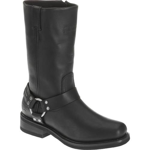 Harley Davidson Hustin Waterproof Full Grain Leather Riding Boots in Black (D95353 (WP) Black )