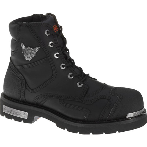 Harley Davidson Stealth Full Grain Leather Boots in Black (D91642 Black)