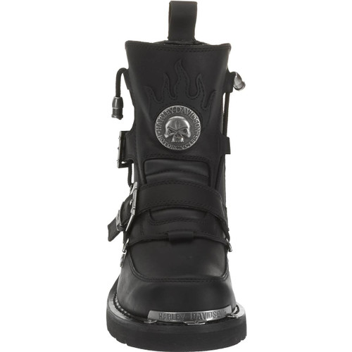 be705f337488a7 ... Front View Harley Davidson Distortion Full Grain Leather Riding Boots  in Black (D94167 Black) ...