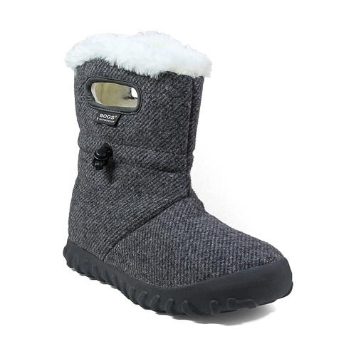 BOGS B Moc Fleecy Lined Waterproof Woolen Boots in Charcoal (972106-013)