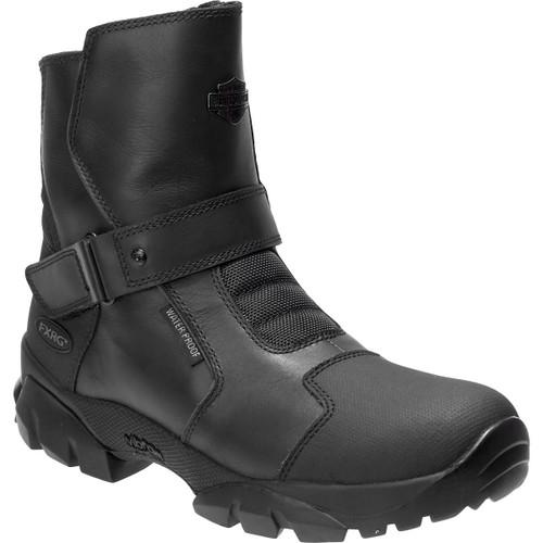 Harley Davidson Giddens Waterproof Full Grain Leather Riding Boots in Black (D96180 Black )
