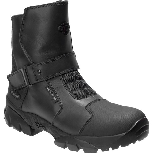 Harley Davidson Giddens Waterproof Full Grain Leather Riding Boots in Black (D96180 Black )
