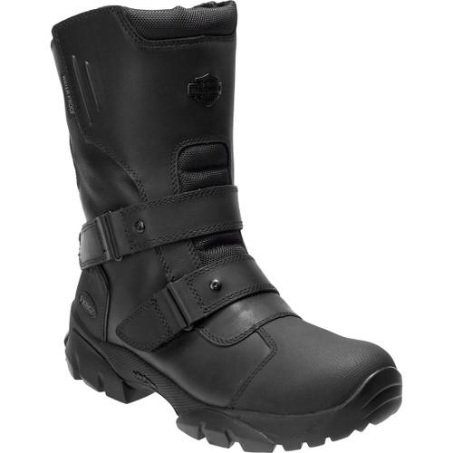 Harley Davidson Hartnell Waterproof Full Grain Leather Riding Boots in Black (D96181 Black )