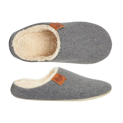 Aussie Soles Memory Foam Slippers in Grey (MFS-Grey)