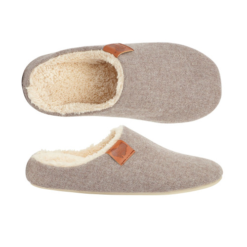 Aussie Soles Memory Foam Slippers in Taupe (MFS-Taupe)