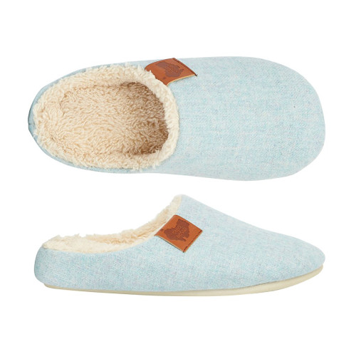 Aussie Soles Memory Foam Slippers in Light Blue (MFS-LBlue)
