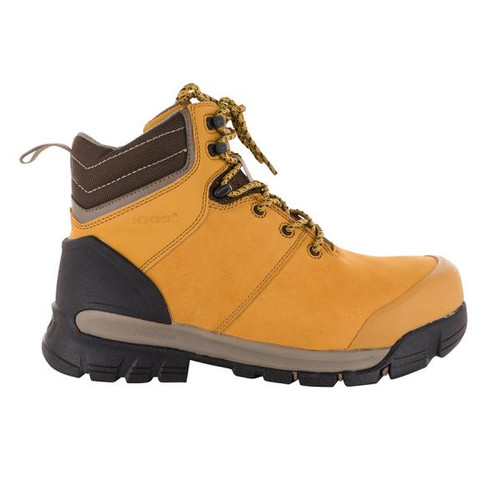 BOGS Pillar Men's Waterproof Composite Safety Toe Zip Sided Work Boots in Camel (9000058-220)