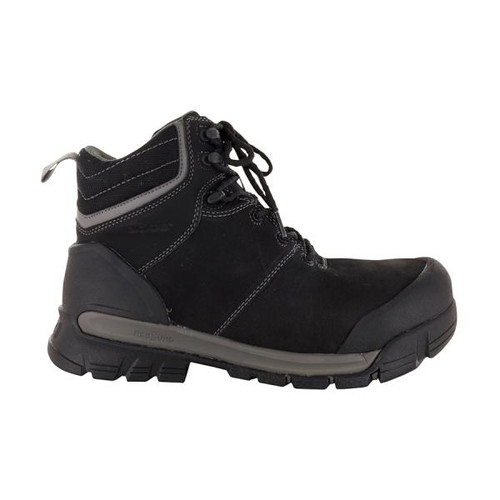 BOGS Pillar Men's Waterproof Composite Safety Toe Zip Sided Work Boots in Black (9000058-001)