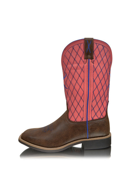 Twisted X Women's Top Hand Western Boots in Brown and Coral (TCWTH0013)